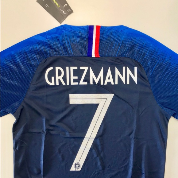 8ad1b14bf Nike Shirts   Griezmann France World Cup Soccer Jersey 2 Stars ...